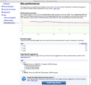 google site performance