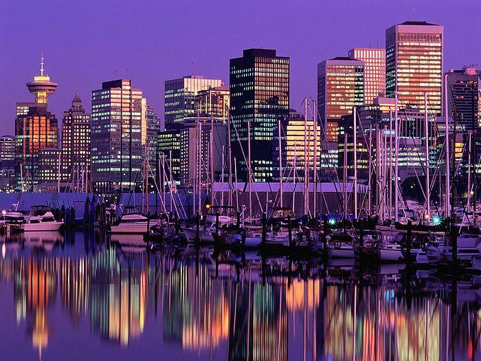 Vancouver at Dusk British Columbia Canada