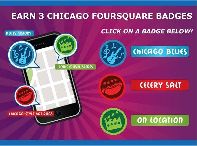chciago foursquare badges - Stikky Media