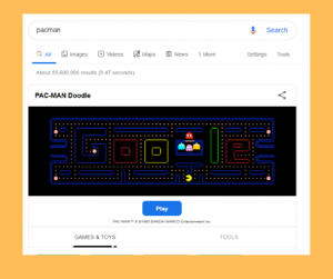 pac-man Google trick