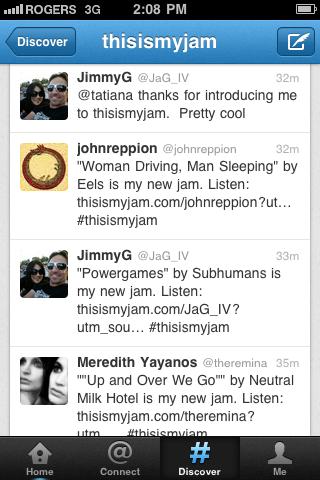Twitter hashtag #thisismyjam