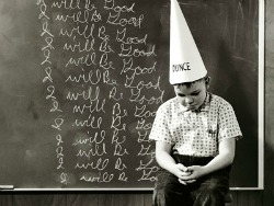 dunce sized