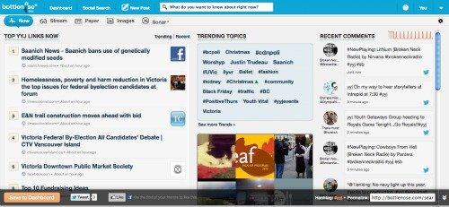 Bottlenose Social Search Engine