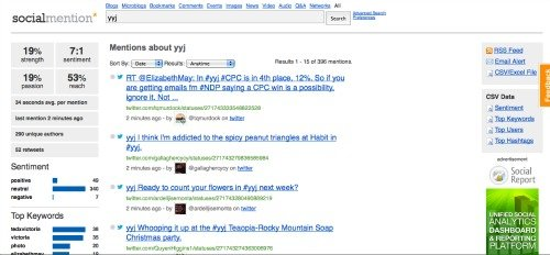 Social Mention Social Search Engine