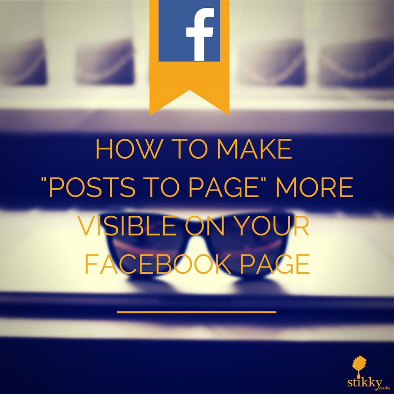posts to page facebook