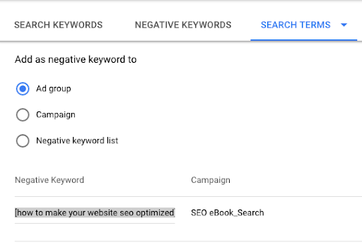 how to Change Match Type for High Average CPC Keywords in Google Ads