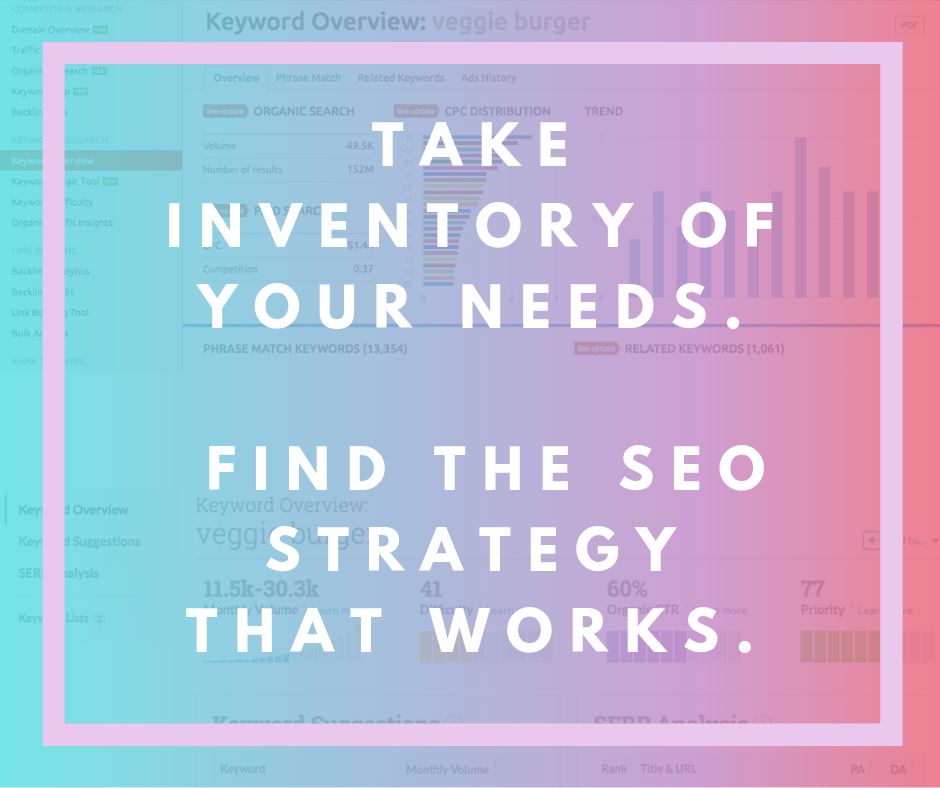 find SEO strategy that works 2