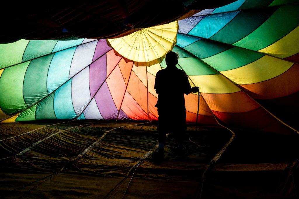 Colorful hot air ballon.
