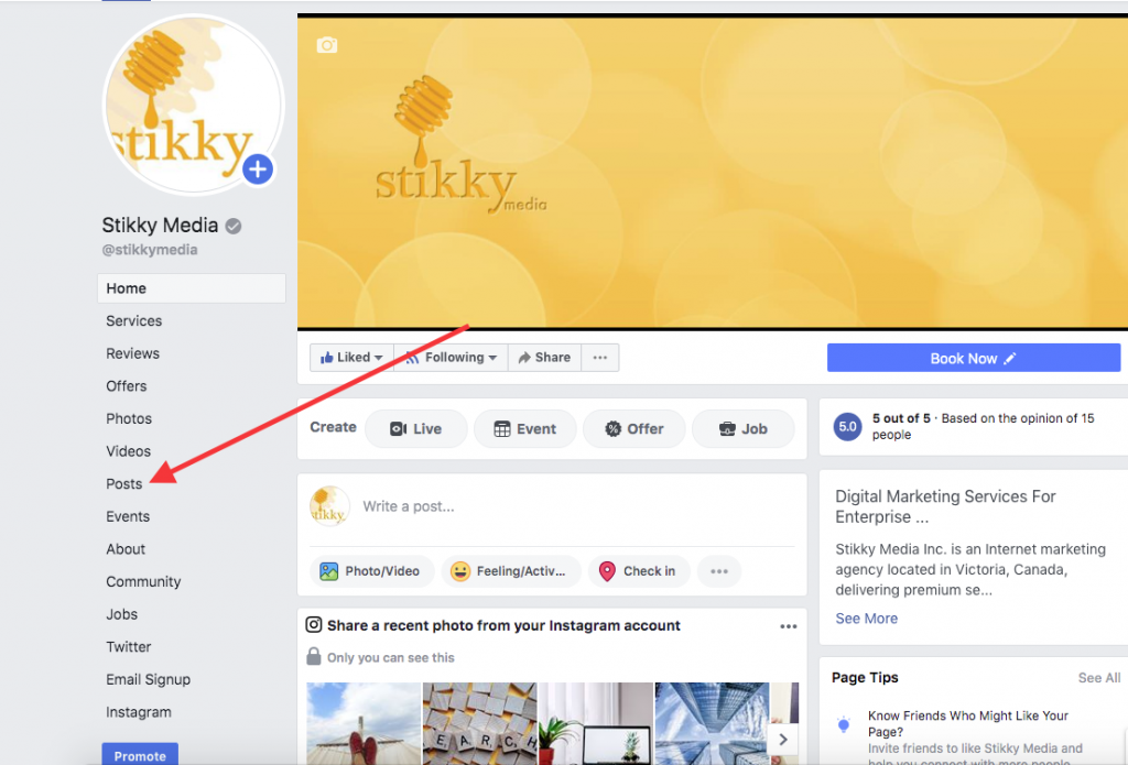 How To Share A Facebook Visitor Post on your Facebook Page