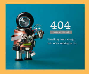 An example of a 404 page not found page