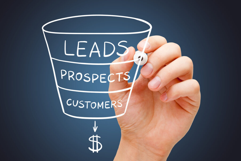 an illustration of the sales funnel