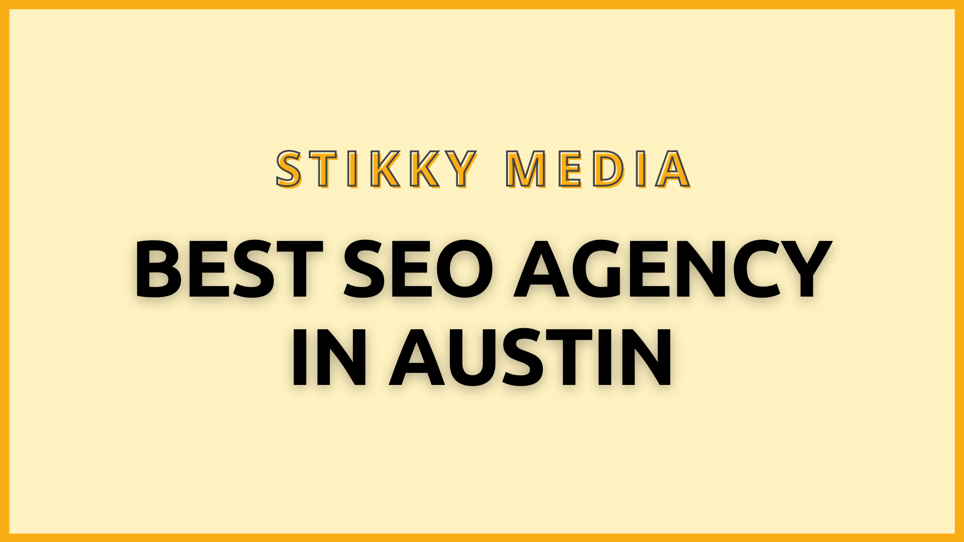 SEO services in Austin - Stikky Media