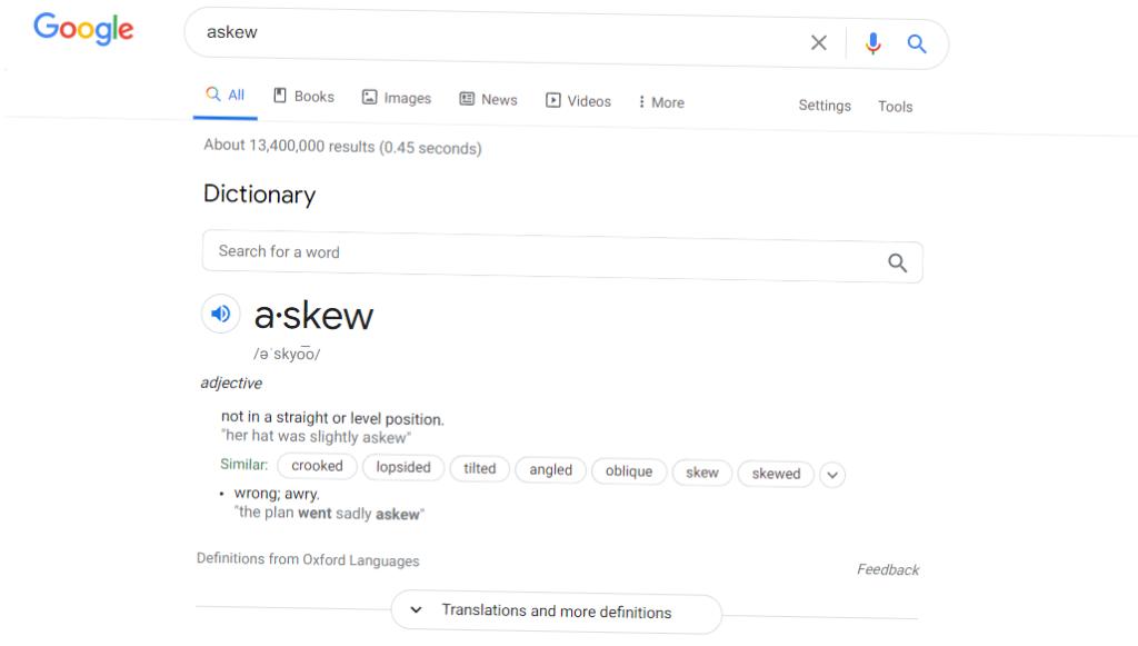 Askew - Google trick