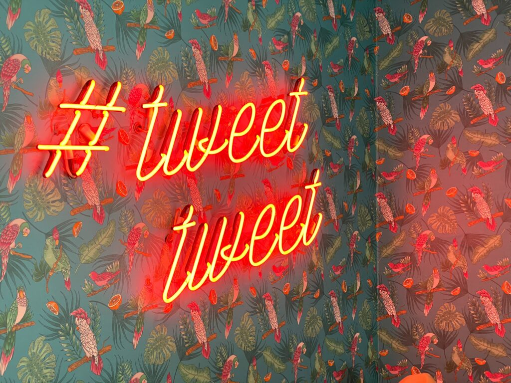 "twitter ads neon ""tweet tweet"" sign"