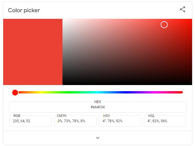 Color picker - Google trick
