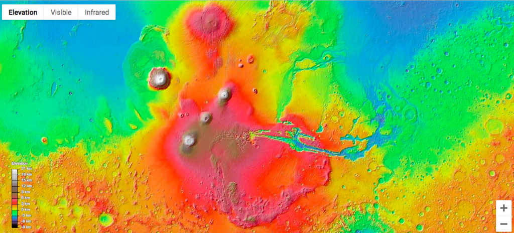 Explore the red planet Mars from Google