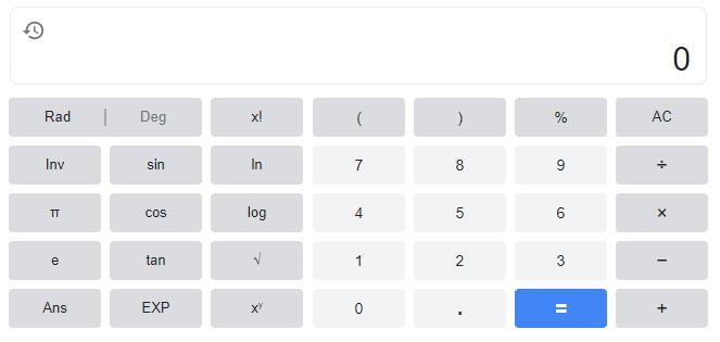Easy Google calculator