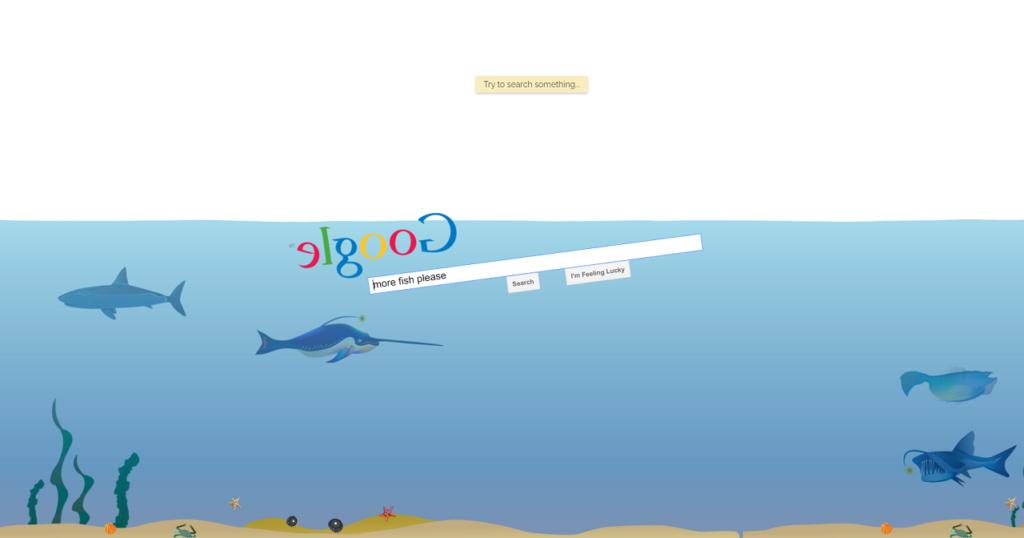 Google gravity underwater trick