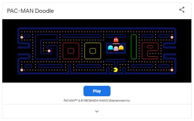 Pac-Man - Google game