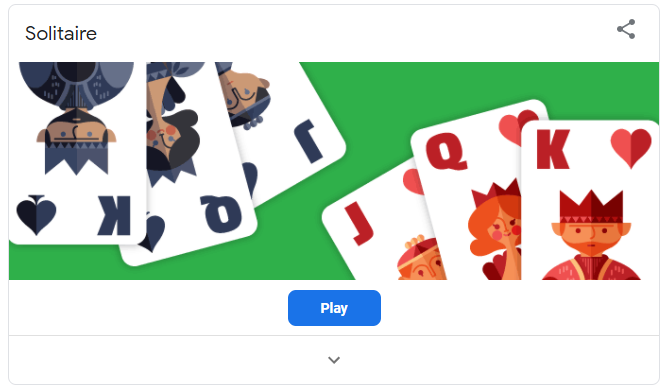 Solitaire - Google game